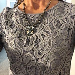 Elegant gray / silver top
