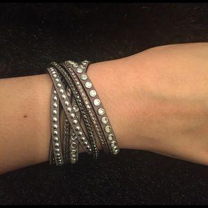 Jewelry - Trendy! Grey Wrap Around Bracelet