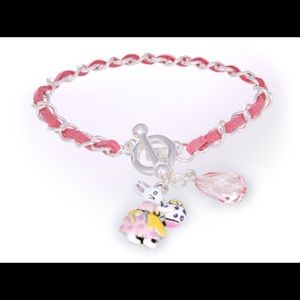 Jewelry - Easter bunny with egg charm toggle bracelet.