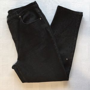 Quacker Factory Denim - Quacker Factory Black Jeans with Sequin Size 20W