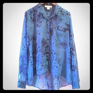 UO blue flower blouse
