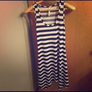 Christina Love Dresses & Skirts - Black White Stripe Dress