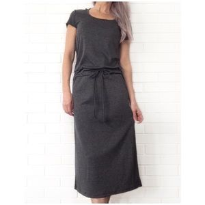 Boutique Dresses & Skirts - Make Bundle Offer • Gray Hoodie Midi Dress