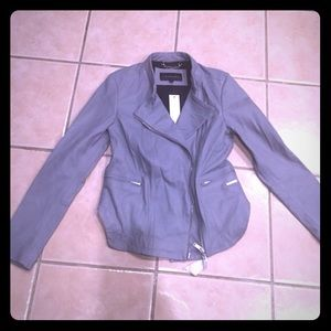 Calvin Klein Jeans Jackets & Blazers - Calvin Klein Grey Leather Jacket Size S