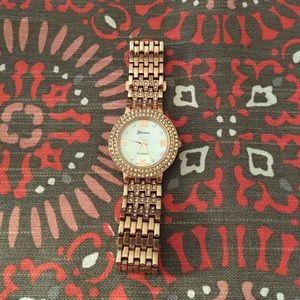 Geneva Platinum Accessories - Rose Gold Geneva Watch