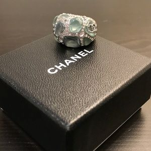 CHANEL Jewelry - Authentic Chanel Blue Stone & Crystal Ring