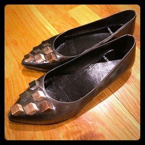 Pierre Hardy Shoes - Pierre Hardy Metallic Flats