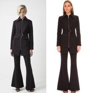 Finders || Black Utility Zipped Belted Jacket