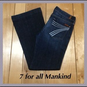 7 for all Mankind Dojo flares size 27 x 30.25""