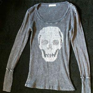 Boheme Tops - Boheme medium skull bling long sleeve EUC