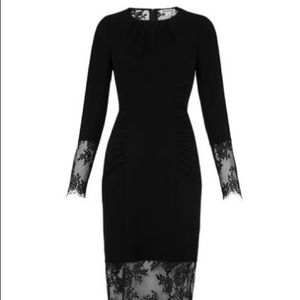 Whistles Dresses & Skirts - Whistles black Izzey lace and crepe bodycon dress