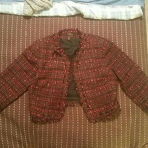 Cynthia Howie Jackets & Blazers - Red and black tweed jacket