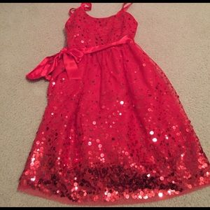 Justice Other - Gorgeous kids red sparkle dress!