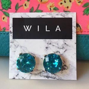 WILA Jewelry - Aquamarine Blue crystal stud earrings💎