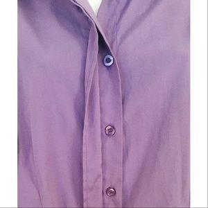 DCC Tops - Women's Purple Button Down Blouse
