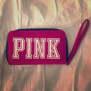 VS PINK wallet wristlet