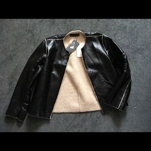 Zara Woman Faux Leather Jacket sz Small