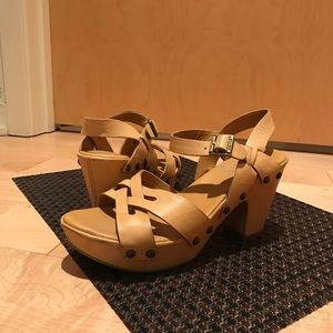 Kork Ease tan clog sandals, Worn Once Indoors