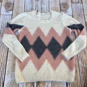 Fuzzy Aztec/Southwestern print sweater