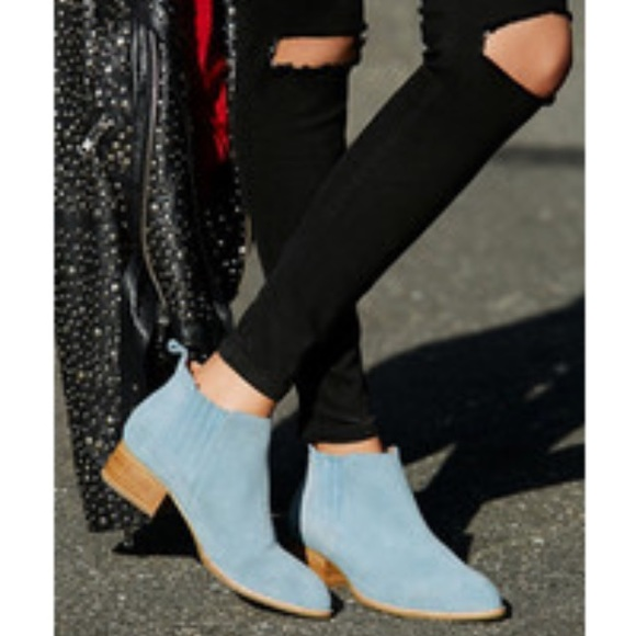 84e63ee031cf Sam Edelman Paige Blue Suede Ankle Boot 8