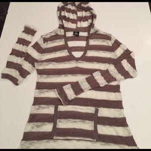bobeau Tops - Bobeau striped hoodie