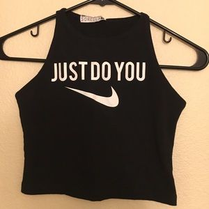 Just Do You crop tank top