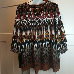 NY Collection Tops - Tribal blouse tunic XL