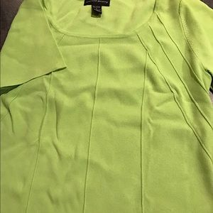 Lime green form fitting top