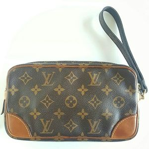 LOUIS VUITTON MARLY DRAGONNE PM CLUTCH BAG