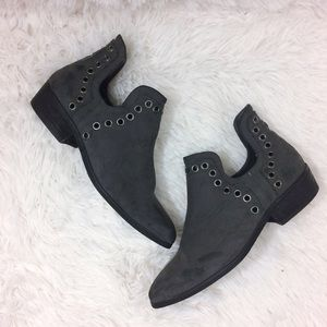 Forever 21 Shoes - FOREVER21 dark grey faux suede ankle boots
