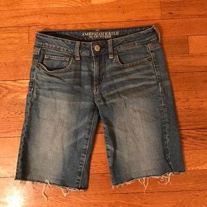American Eagle Outfitters Pants - American Eagle Stretch Cutoff Denim Shorts
