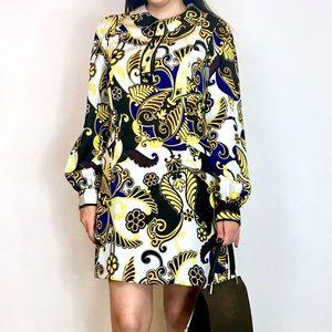 Tibi Dresses & Skirts - :: Tibi Green  Swirls Long Sleeve Tunic Dress