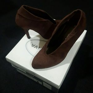 Wild Diva Shoes - WILD DIVA Brown Suede Heels