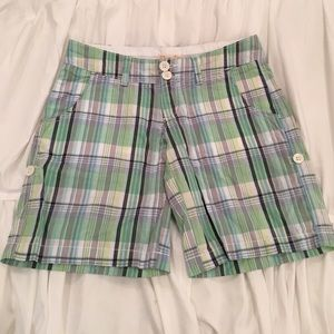 Red Camel Pants - RED CAMEL  Greens Plaid Shorts w/ front pockets