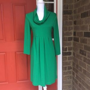 muse Dresses & Skirts - Kelly Green Long Sleeve Cowl Neck Dress