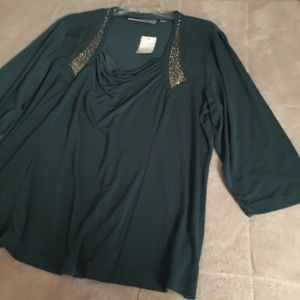 George Simonton Tops - NWT George Simonton green and gold top