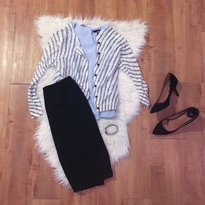 LOFT Sweaters - LOFT Black & White Cardigan