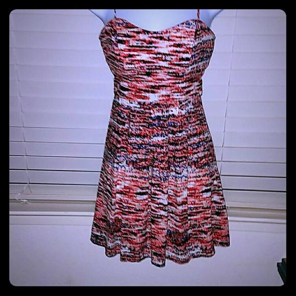 Material Girl Dresses - *Adorable Coral Patterned Dress* NWOT