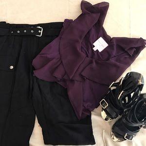 KORS Michael Kors Pants - Michael Kors black pants with belt - size 2