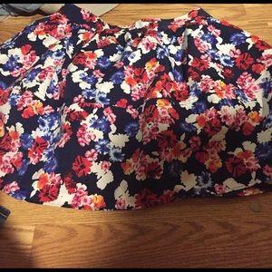 NWOT Express floral skirt