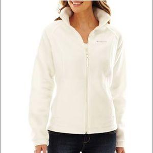 Columbia Jackets & Blazers - COLUMBIA white puffer snowboarding jacket