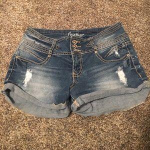 Amethyst Pants - Amethyst Distressed Jean Shorts