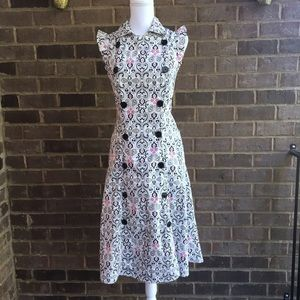 Military Inspired Patterned Double Breasted Dress