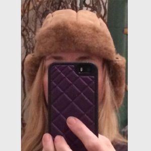 Barneys New York Accessories - BARNEYS TOSCANA FUR SHEARLING TRAPPER AVIATOR HAT!