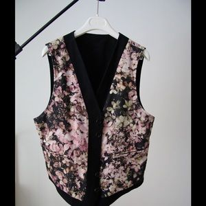 Iconic Ann Demeulemeester reversible floral vest