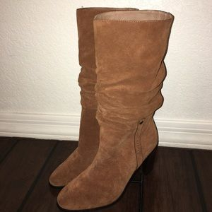 Donald j Pliner  Odessa brown suede slouch boot