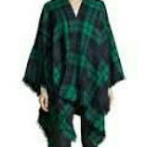 Isaac Mizrahi Jackets & Blazers - Green and Blue Plaid Wrap by Mizrahi