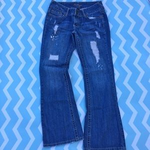 Amethyst Denim - Amethyst brand distressed flare jeans size 11