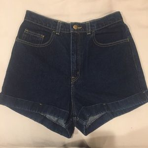 American Apparel Pants - ❤️American Apparel High Waisted Denim Shorts Sz 30