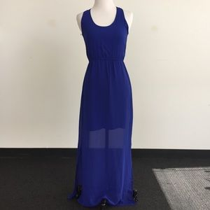 dee elle Dresses & Skirts - Cobalt Blue Maxi Dress